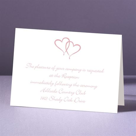 Sweet Hearts  Reception Card
