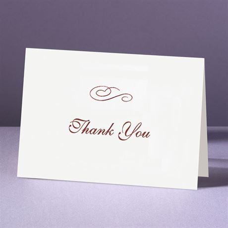 Plainly White  Thank You Card And Envelope