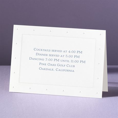 On The Dot!  Reception Card