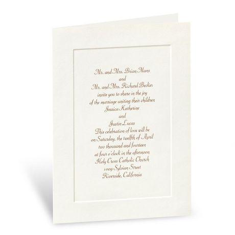 Classic Look in Ecru  Folded Invitation