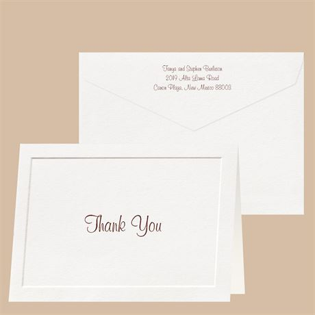 Taste of Tradition  Thank You Card and Envelope