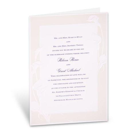 Satin Calla Lilies  Invitation