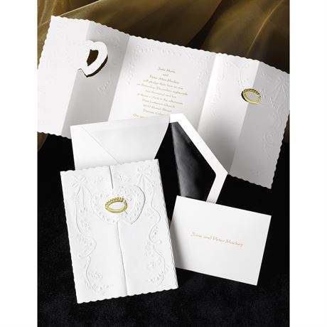 Ring of Love  Gold  Invitation