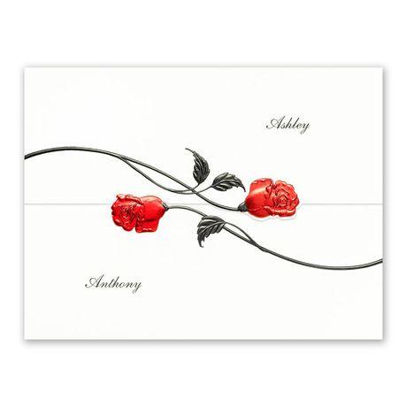 Red Roses - Invitation
