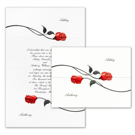 Red Roses  Invitation