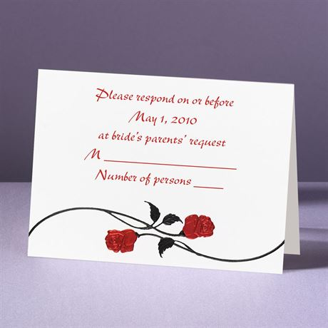 Red Roses  Response Card and Envelope