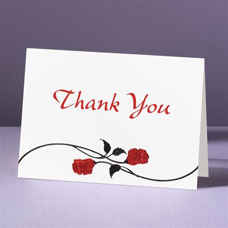 Red Roses  Thank You Card and Envelope