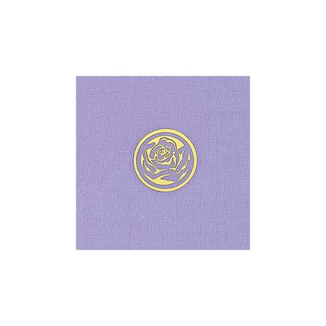 Clear Rose With Gold Foil Seal