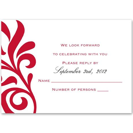 Flair for Style  Response Card and Envelope