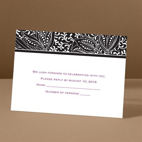 Blossoming Beauty - Ebony - Response Card and Envelope