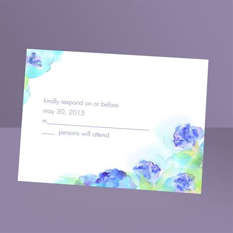 Beauty in Blue  Response Card and Envelope