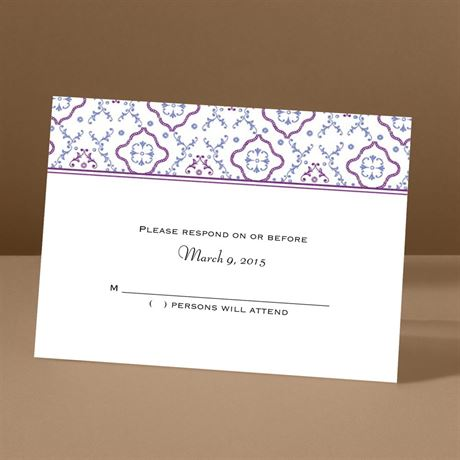 Antique Details - Amethyst - Response Card and Envelope