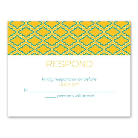 Simply Mod  Response Card and Envelope