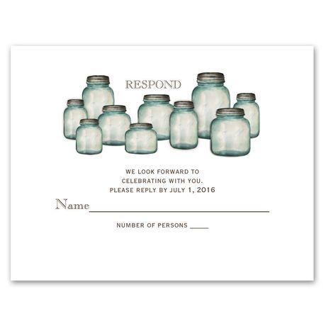 Canning Jars  Response Card and Envelope