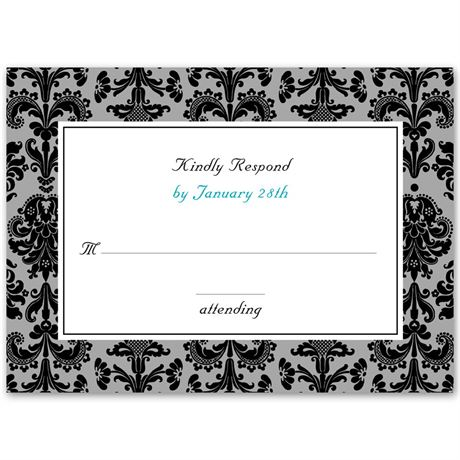 Clearly Refined  Response Card and Envelope