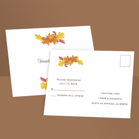 Fall Foliage  Response Postcard