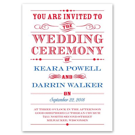 Typography on White  Invitation