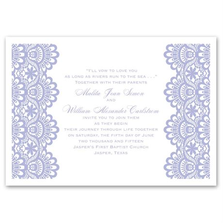 Luxurious Borders  White  Invitation