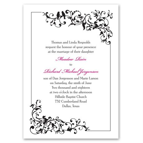 Filigree Perch  Invitation