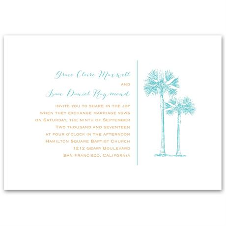 Tropical Pair  Invitation