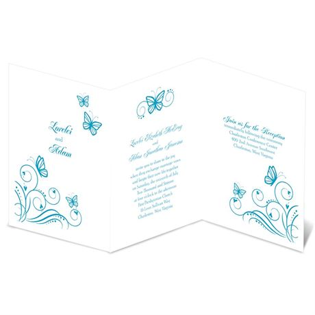 Delicate Butterflies  Invitation