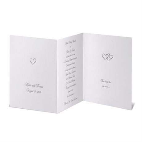 Silver Hearts  Invitation