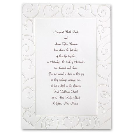 Loving Swirls  Invitation