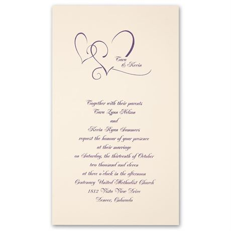 With Love  Ecru Invitation