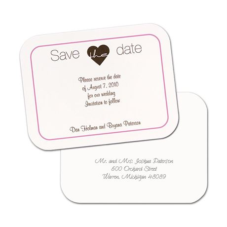 Simply Smooth Save the Date Postcard Pink