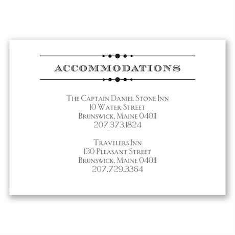 Typography on White  Accommodations Card