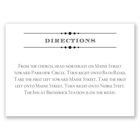 Typography on White  Direction Card