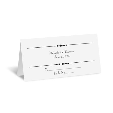 Typography on White  Place Card