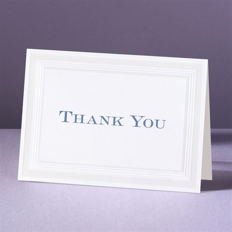Pearlized Borders  Thank You Card and Envelope