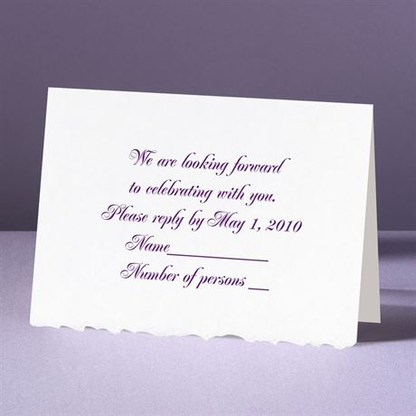 White Deckle Edge  - Response Card and Envelope