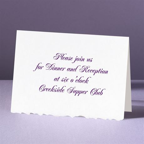 White Deckle Edge  Reception Card