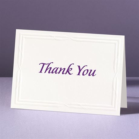 Intertwined Affection  Thank You Card and Envelope