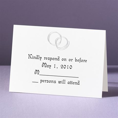 Silver Rings  Response Card and Envelope