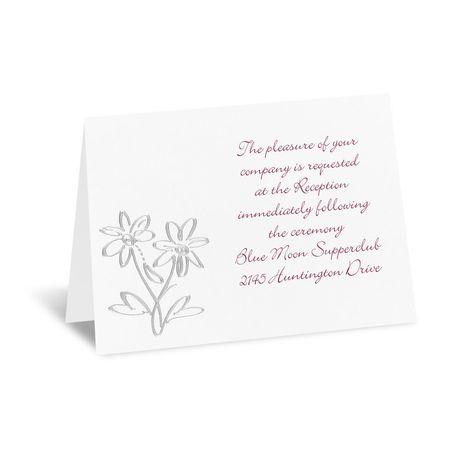 Daisy Love  Reception Card