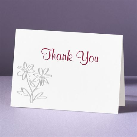 Daisy Love  Thank You Card and Envelope