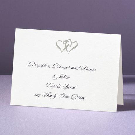 Silver Hearts  Reception Card