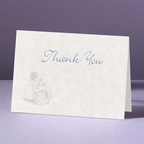 Sandy Shore  Thank You Card and Envelope