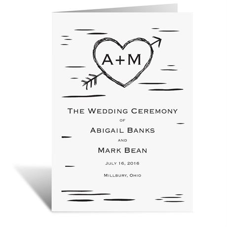 Sweetly Carved  Wedding Program
