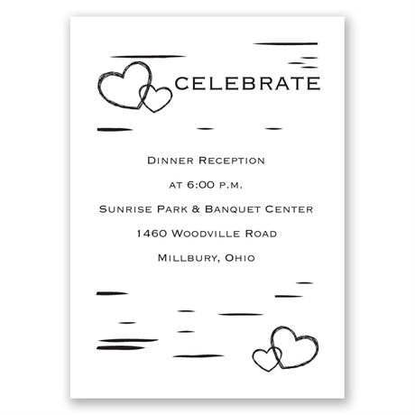 Sweetly Carved  Reception Card