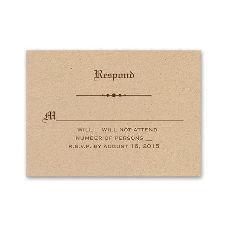 Vintage Newspaper  Response Card and Envelope