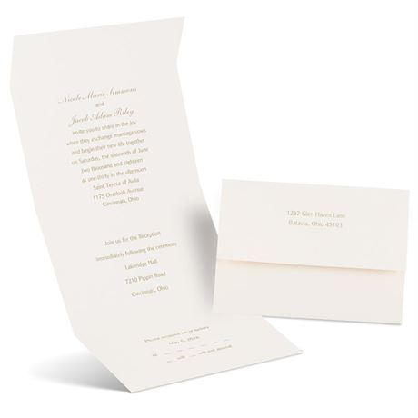 Classic Romance  Seal and Send Invitation