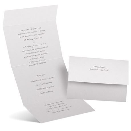Pearl Beauty  Seal and Send Invitation