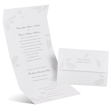 Pearl Leaves  Seal and Send Invitation