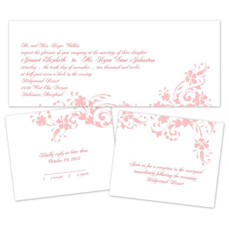 invitations for wedding floral damask separate and send invitation s bridal 5168