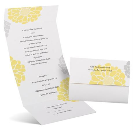 Bright Blooms  Seal and Send Invitation