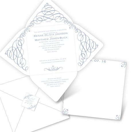Swirl Sensation  Seal and Send Invitation